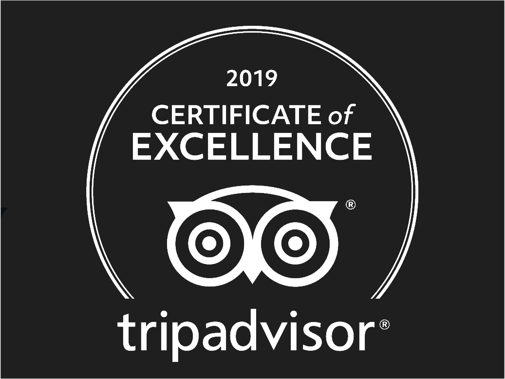 Awarded TripAdvisor Certificate of Excellence 2019