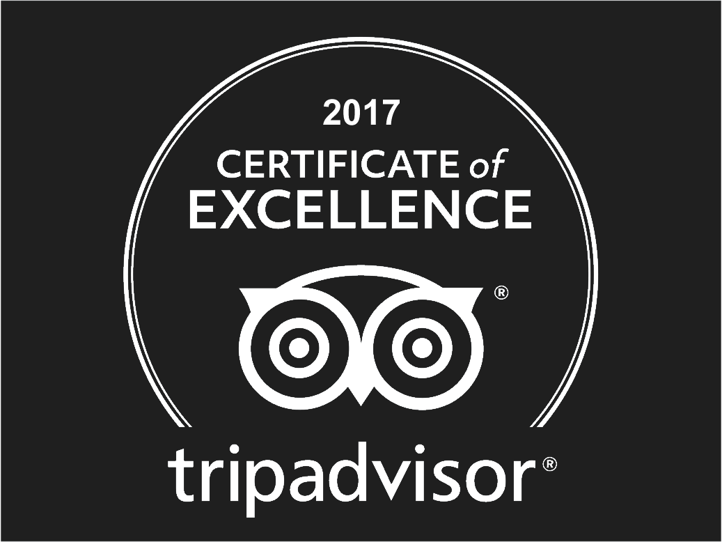 Awarded TripAdvisor Certificate of Excellence 2017