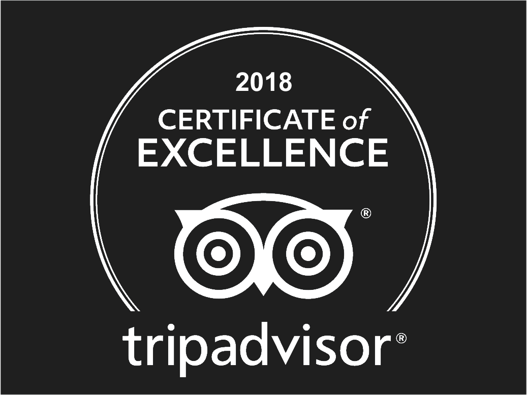Awarded TripAdvisor Certificate of Excellence 2018